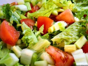 Menu fresh salad