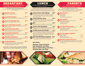 Frothies Menu 2