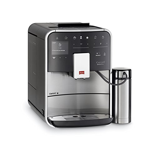 Melitta Barista TS SMART F86/0-100, Bean to Cup Coffee Machine, Bluetooth connectivity, Melitta Connect App, Whisper Grinder (Quiet Mark), Stainless Steel