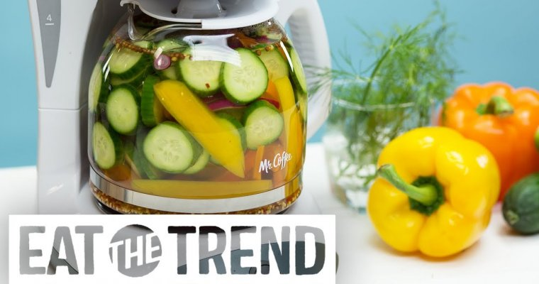 Coffee Maker Pickles | Eat the Trend