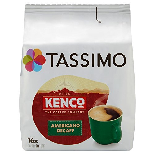 TASSIMO Kenco Decaf Coffee Capsules Refills T-Discs Pods 5 Pack, 80 Drinks