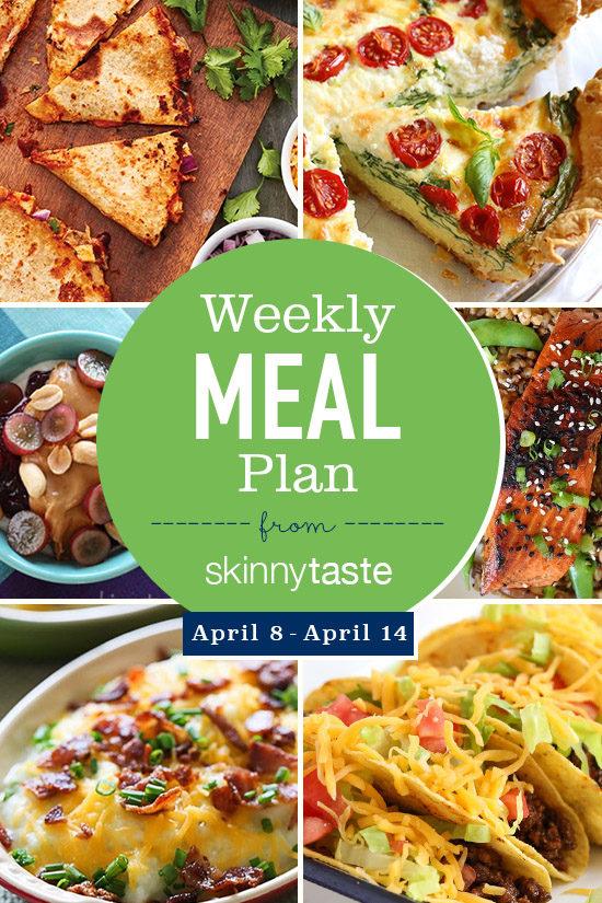 Skinnytaste Meal Plan (April 8-April 14)