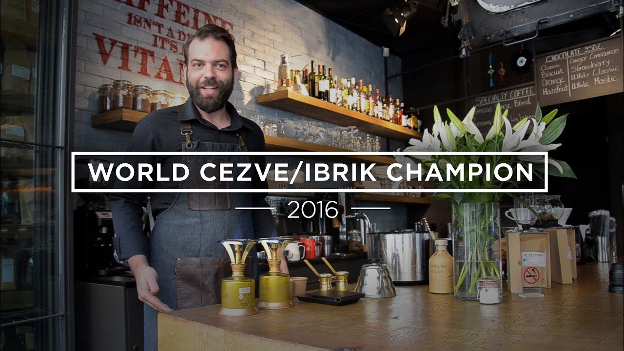 How To Make Cezve/Ibrik Coffee: Konstantinos Komninakis (2016 World Ibrik Champion)