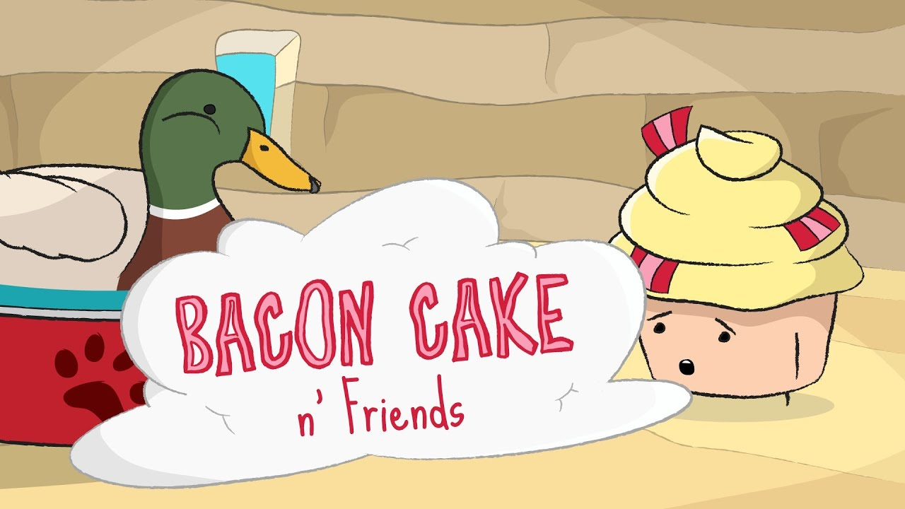 Bacon Cake meets Actual Advice Mallard for Coffee (feat. Doge)