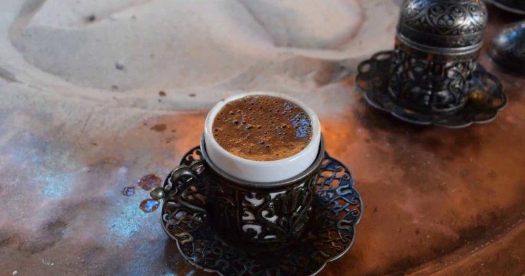 Traditional Turkish Coffee on Sand