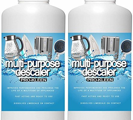 2L of Pro-Kleen Multi-Purpose Descaler – Fast-Acting Concentrate & Dissolves Limescale on Contact! – Optimises Performance & Prolongs Life of Coffee Machines, Kettles, Irons, Showerheads, Taps and More!