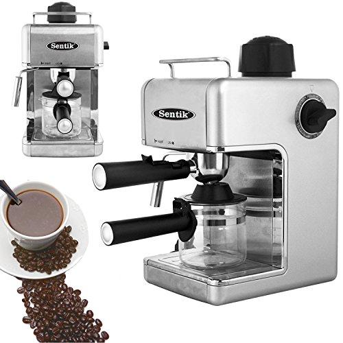 Sentik® Professional Espresso Cappuccino Coffee Maker Machine Home – Office (Silver)