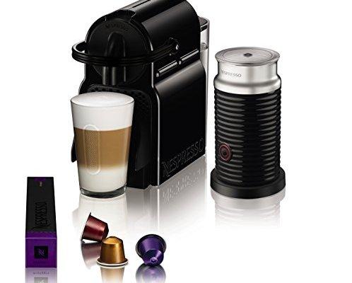 Nespresso Inissia Coffee Machine with Aeroccino, Black by Magimix