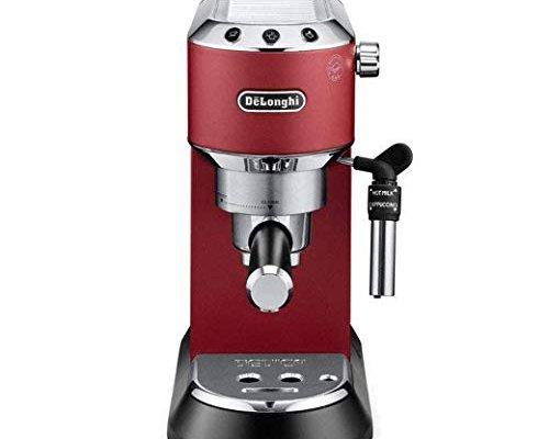 De'Longhi Dedica Style EC685R Traditional Pump Espresso Machine – Red