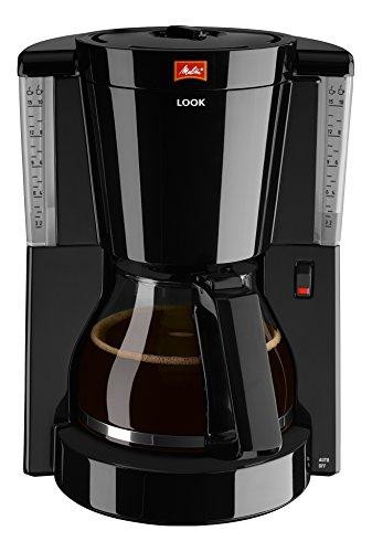 Melitta Look IV, 1011-02, Filter Coffee Machine with Glass Jug, Aroma Selector, Black