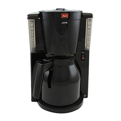 Melitta Look IV Therm, 1011-10, Filter Coffee Machine with Insulated Jug, Aroma Selector, Black