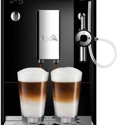 Melitta SOLO & Perfect Milk E957-101, Bean to Cup Coffee Machines, Automatic Cappuccino Maker, Black/Silver