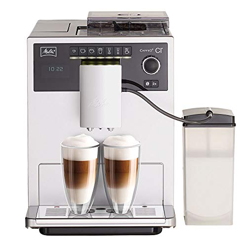 Melitta E970-101 Caffeo CI One-Touch Fully Automatic Coffee Maker with My Coffee Memory and Milk system – Silver