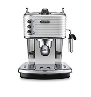 De'Longhi Scultura ECZ351W Traditional Pump Espresso Machine – White