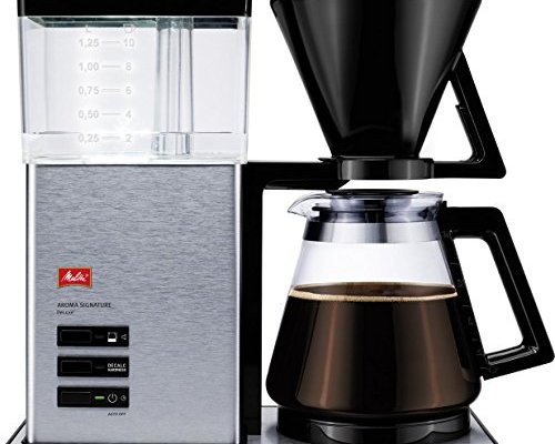 Melitta Aroma Signature Deluxe, 1007-02, Filter Coffee Machine with Glass Jug, Timer and Programmable Warmer, Black