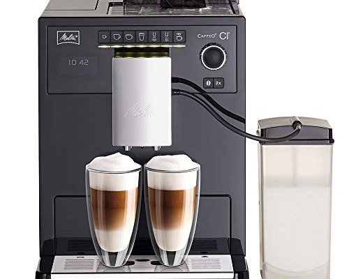 Melitta E970-103 Caffeo CI One-Touch Fully Automatic Coffee Maker with My Coffee Memory and Milk System – Black