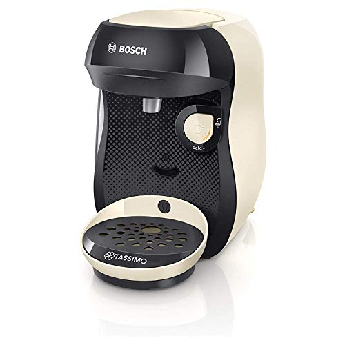 Bosch Tassimo TAS1007GB Happy Coffee Machine, Plastic Cream