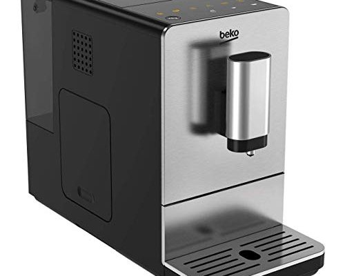 Beko 8813513200 Compact CEG5301X Bean to Cup Coffee Machine, 19 Bar Pressure-Stainless Steel