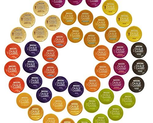 Nescafé Dolce Gusto Capsules All-inclusive Set, 50 Capsules – Variety Pack