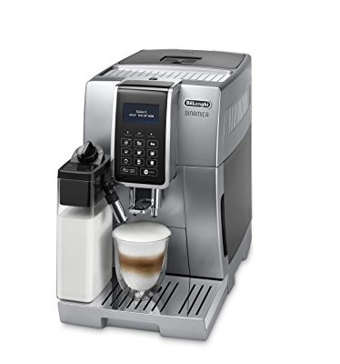 De'Longhi Dinamica, Fully Automatic Bean to Cup Coffee Machine, Cappuccino, Espresso Coffee Maker, ECAM 350.75.S, Silver