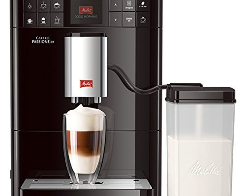 Melitta Passione OT F53/1-102, Bean to Cup Coffee Maker, One Touch Function, Milk Container Included, Black