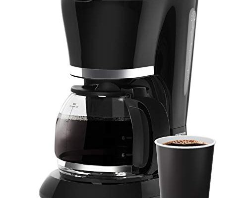 Geepas 1.5L Filter Coffee Machine   800W Coffee Maker for Instant Coffee, Espresso, Macchiato & More   Boil-Dry Protection, Anti-Drip Function, Automatic Turn-Off Feature (Standard) – 2 Year Warranty