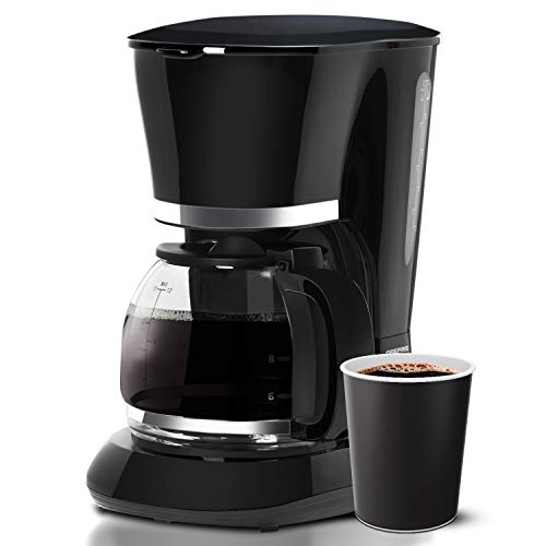 Geepas 1.5L Filter Coffee Machine | 800W Coffee Maker for Instant Coffee, Espresso, Macchiato & More | Boil-Dry Protection, Anti-Drip Function, Automatic Turn-Off Feature (Standard) – 2 Year Warranty