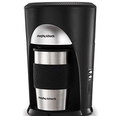 Morphy Richards Coffee On The Go Filter Coffee Machine 162740 Black and Brushed Stainless Steel Coffee Maker