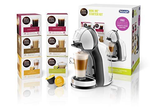 DeLonghi EDG305.WB Dolce Gusto Mini Me Coffee Machine Starter Kit by De'Longhi,1460 W, White/Black