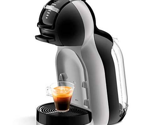 DeLonghi NESCAFÉ Dolce Gusto Mini Me EDG155.BG Pod Coffee Machine and Other Automatic Drinks-Black & Arctic Grey, Plastic, 1460 W, Black and Arctic Grey