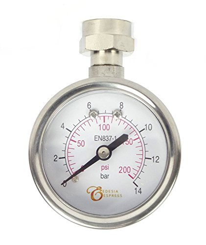 Portafilter Pressure Gauge Tester for Coffee Espresso Machines by EDESIA ESPRESS
