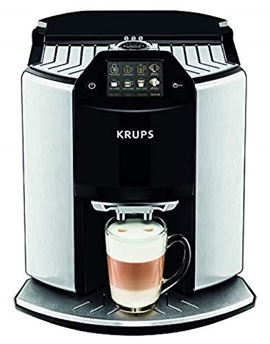 Krups EA907D40 Automatic Espresso Bean to Cup Coffee Machine, Silver, Barista