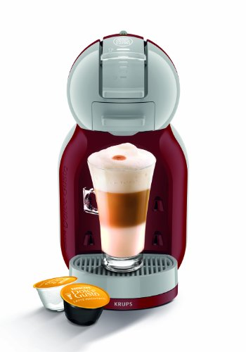 Nescafe Dolce Gusto KP120540 Mini Me Coffee Machine, 1500 W, Red/Grey