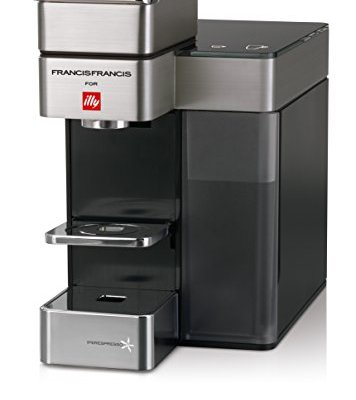 Francis Francis for Illy 60072 Y5 Duo Espresso & Coffee Machine, Silver/Black by Francis Francis for illy