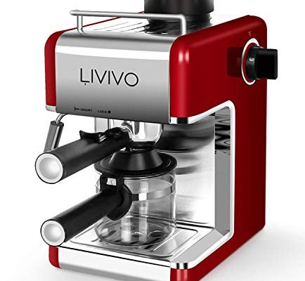 FiNeWaY@ Professional Electric Espresso Cappuccino Coffee Maker Machine Home Office (RED)