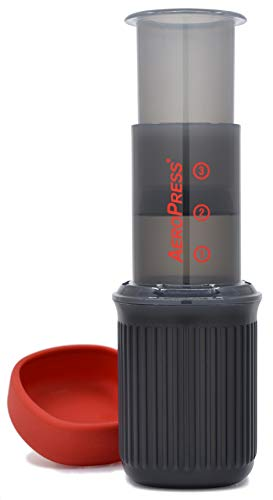 AeroPress 10R11 Go Travel Coffee Maker, Free of Phthalate, Grey