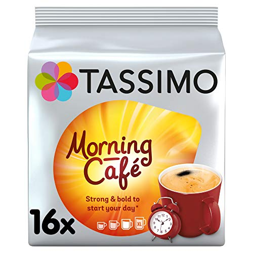 Tassimo Morning Cafe Coffee Pods (Pack of 5, Total 80 pods, 80 servings)