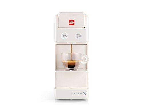 illy Coffee Maker Machine Y3.2, Espresso Capsules Coffee Machine, Compact Design, White