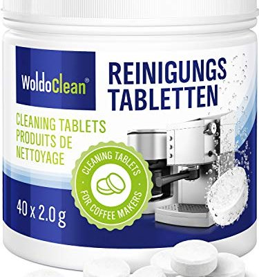 Cleaning Tablets for Coffee and Espresso Machine – Pack of 40, Cleaner Suitable for Automatic Coffee Makers and Capsule Machines