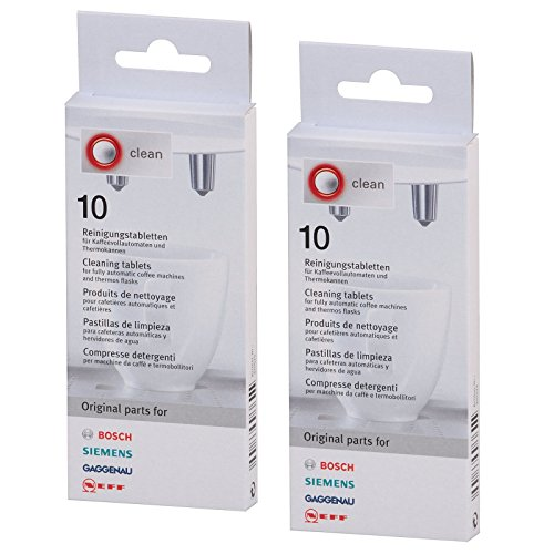 Bosch Coffee Machine Cleaning Tablets (2 Packs of 10)