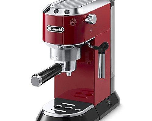 De'Longhi EC680.R Dedica Coffee Machine with 15 Bar Espresso Pump – Red
