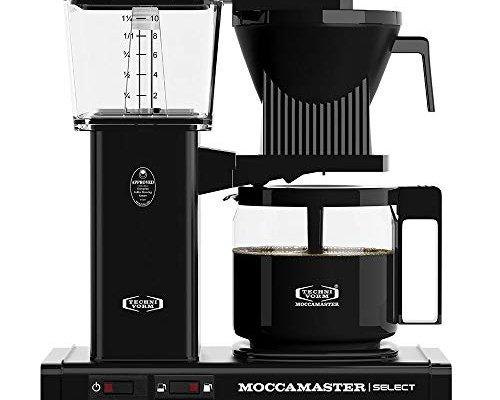 Moccamaster 53818 KBG Select UK Plug Filter Coffee Machine, Aluminium, 1520 W, 1.25 liters, Black