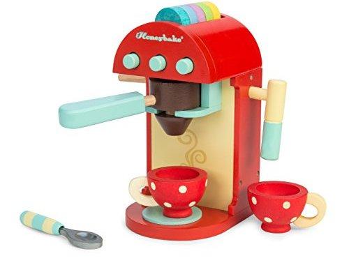 Le Toy Van – Honeybake Wooden Cafe Machine Set Pretend Kitchen Play Toy Set   Kids Role Play Toy Kitchen Accessories