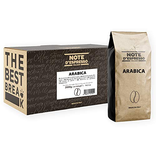Note d'Espresso Vacuum-Packed Arabica Coffee Beans 1000g x 2 pack