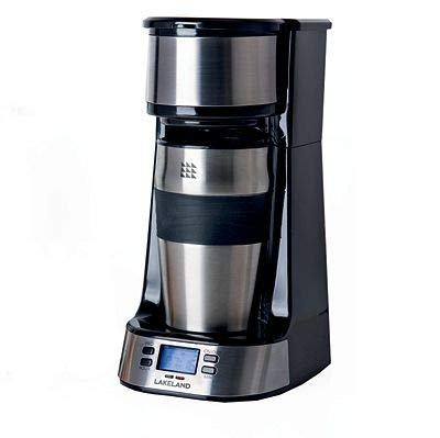 Lakeland Digital to Go Coffee Machine with Travel Mug 24 Hour Programmable Timer
