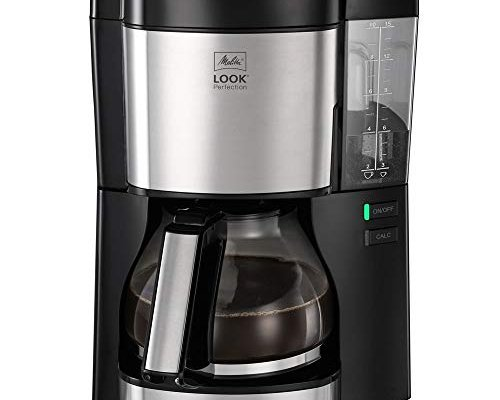 Melitta Filter Coffee Machine, Look V Perfection Model, Art. No. 6766589, Stainless Steel, Black