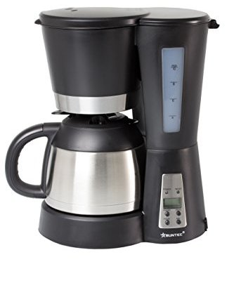SUNTEC filter coffee machine KAM-9004 UK plug [with timer programming + anti-drip feature, insulated jug (1.0 l), 800 W]