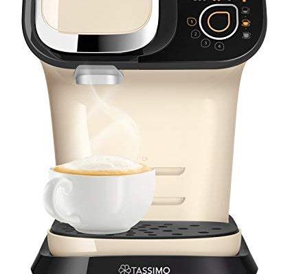 Tassimo Bosch My Way 2 TAS6507GB Coffee Machine, 1500 Watt, 1.3 Litre – Cream