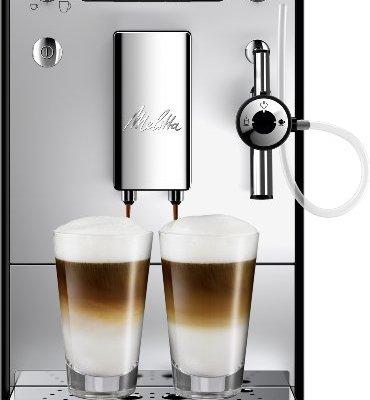 Melitta SOLO & Perfect Milk E957-103, Fully Automatic Bean to Cup Coffee Machine, Automatic Cappuccino Maker, Silver