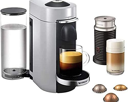 Nespresso Vertuo Plus 11388 Coffee Machine with Aeroccino by Magimix, Silver